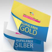 Metallic Aufkleber Gold Silber Online Drucken
