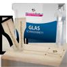 Küchenhelfer bedruckt und graviert mit Beispiel Brettchen Schneidebrett Tischset Besteck Raclettschaber Grillzange