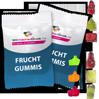 Fruchtgummis und Gummibärchen mit bedruckter Verpackung verschiedene Formen