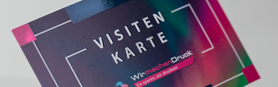 Visitenkarten Mit Partiellem Uv Lack Drucken Wirmachendruck Ch