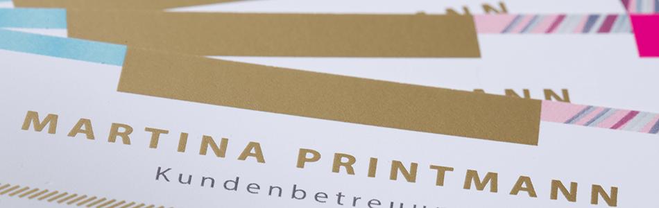 Visitenkarten Mit Gold Druck Drucken Wirmachendruck Ch