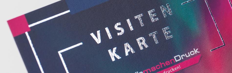 Visitenkarten Mit Heissfolienprägung Wirmachendruck Ch